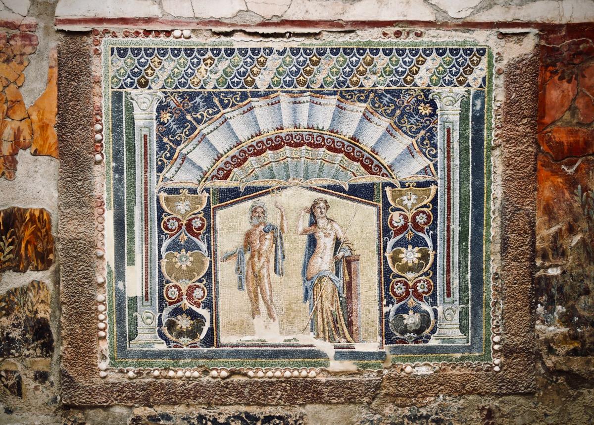 Vibrant wall mosaic