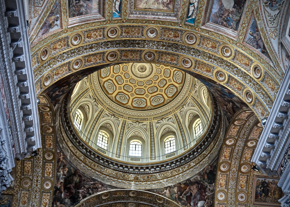 Naples Cathedral Ceiling